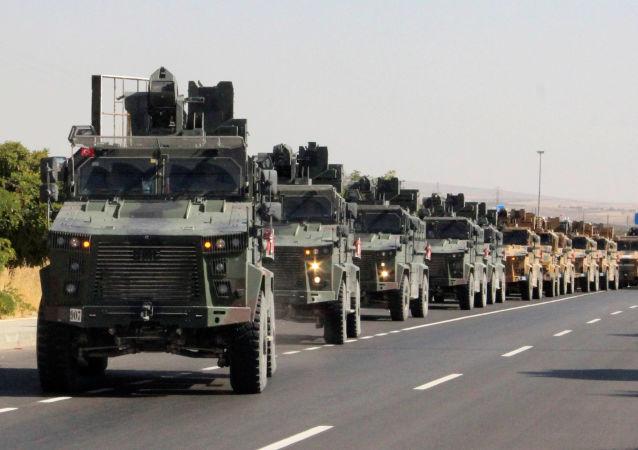 Un convoy militar turco en Siria
