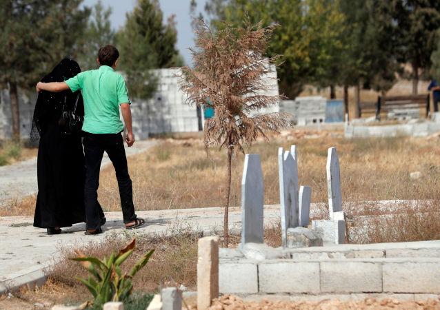 Un cementerio en Siria