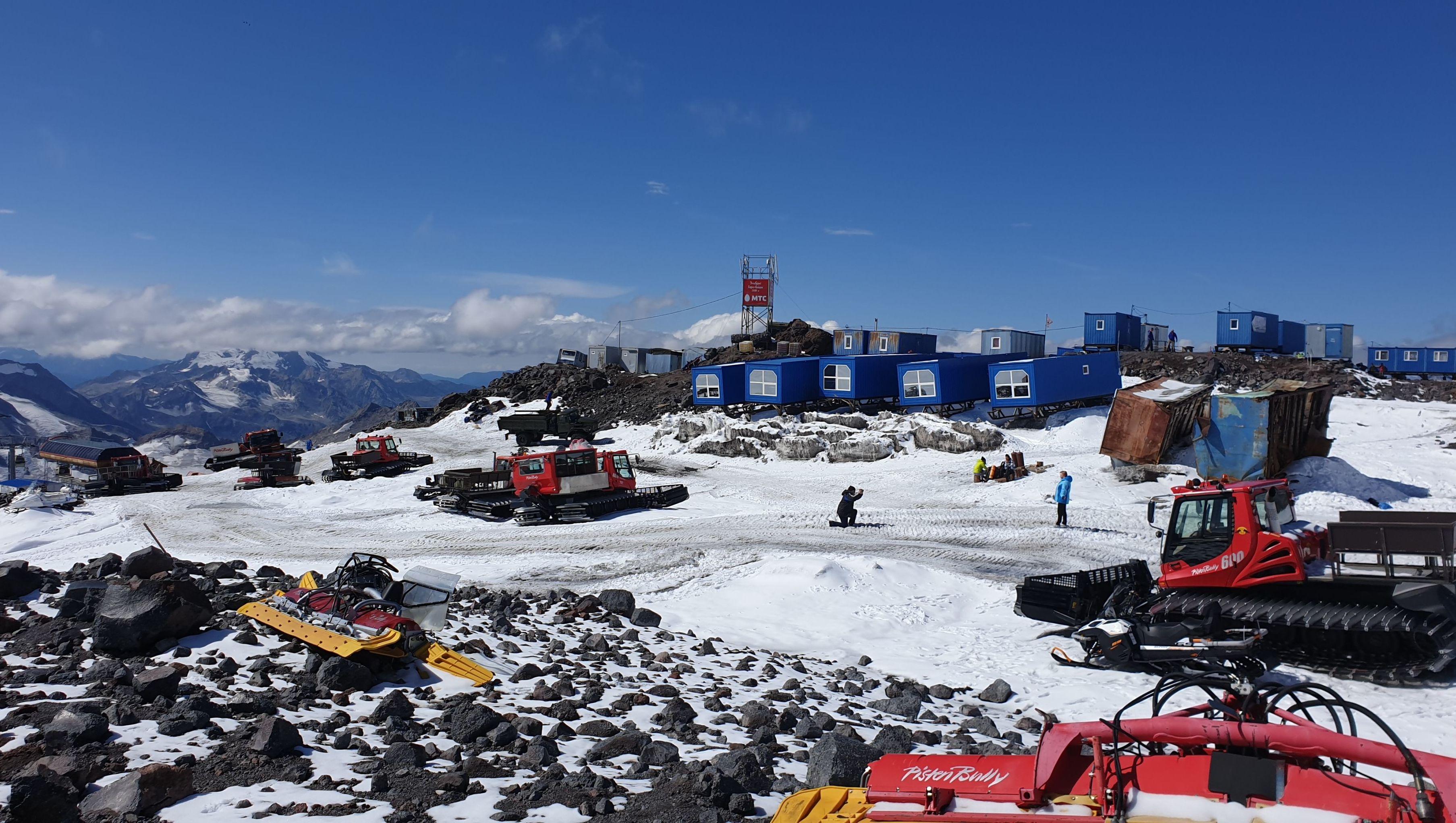 Campamento base del Monte Elbrus en Rusia