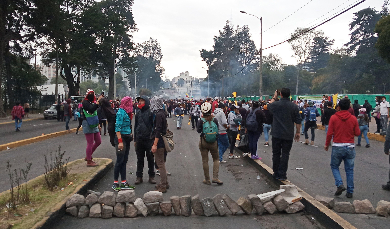 Protestas en Quito, Ecuador