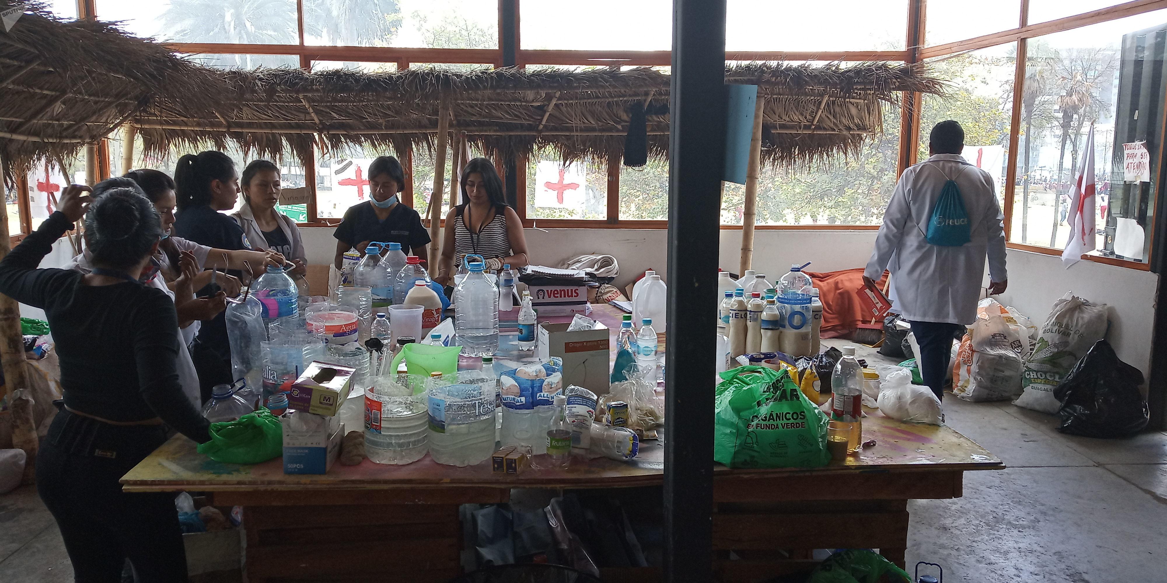 Los médicos voluntarios en Quito, Ecuador