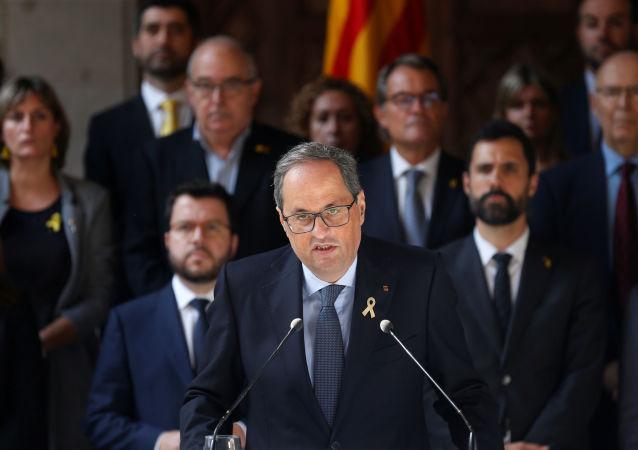 Quim Torra, presidente del Gobierno catalán