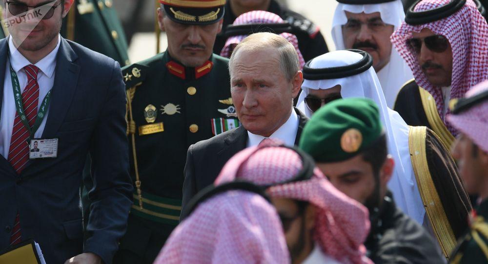 Vladímir Putin, presidente de Rusia durante su visita a Arabia Saudí