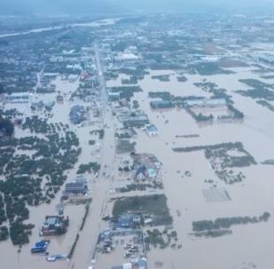 El rastro de destrucción del tifón Hagibis, a vista de pájaro
