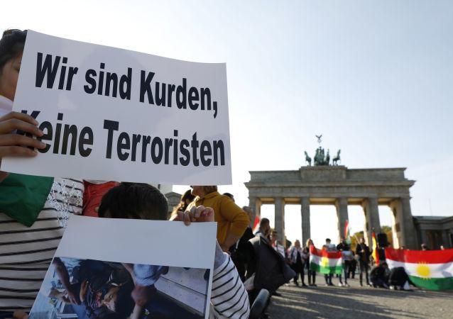 Protesta kurda en Alemania contra la ofensiva turca en el este de Siria