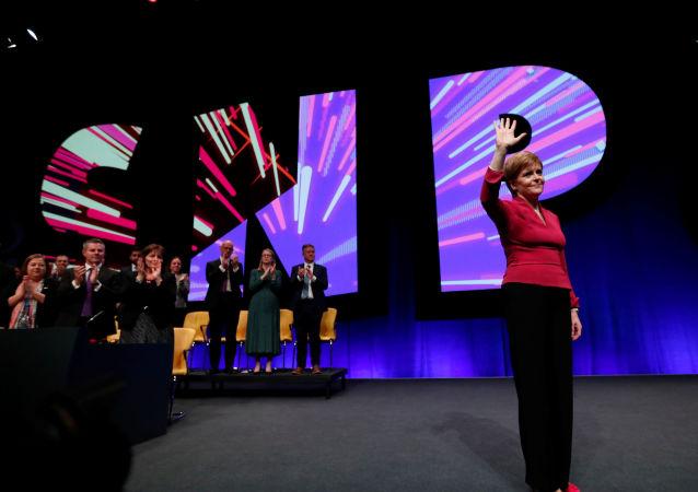 Nicola Sturgeon, la ministra principal y líder del Partido Nacional Escocés