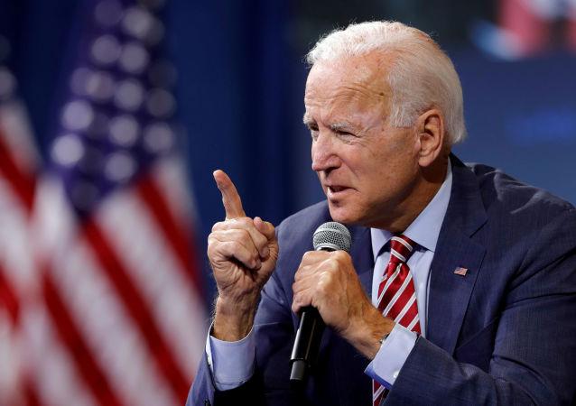 Joe Biden, precandidato demócrata a la presidencia de EEUU