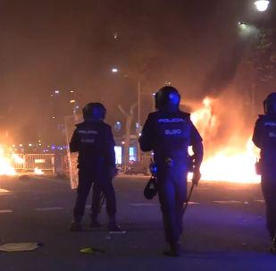 Segunda jornada de protestas masivas en Cataluña