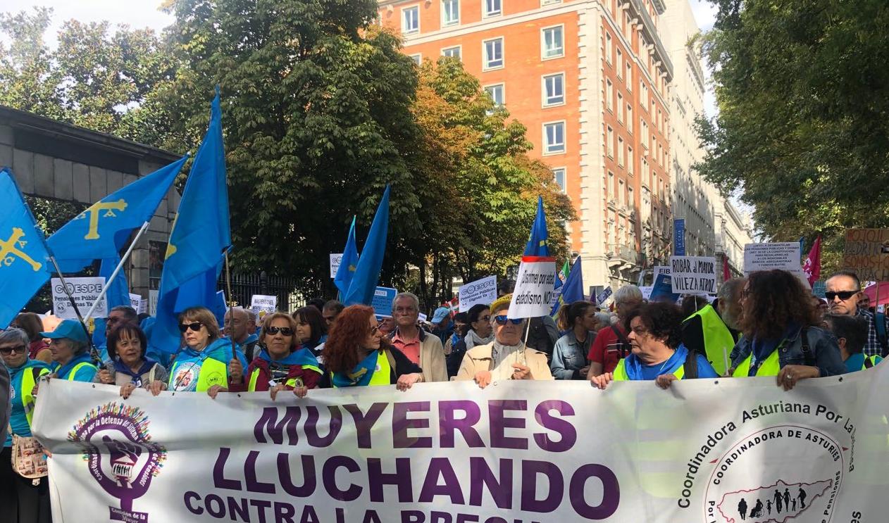 Manifestaciones de jubilados en Madrid