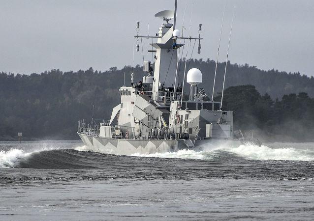 La corveta sueca HMS Stockholm (archivo)