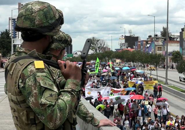 Protestas masivas en Bogotá contra la reforma laboral y las pensiones