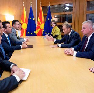 Cumbre en Bruselas para la incorporación de Macedonia del Norte a la Unión Europea
