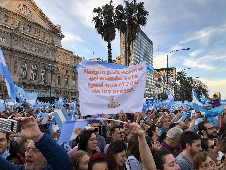 La marcha del millón en Buenos Aires