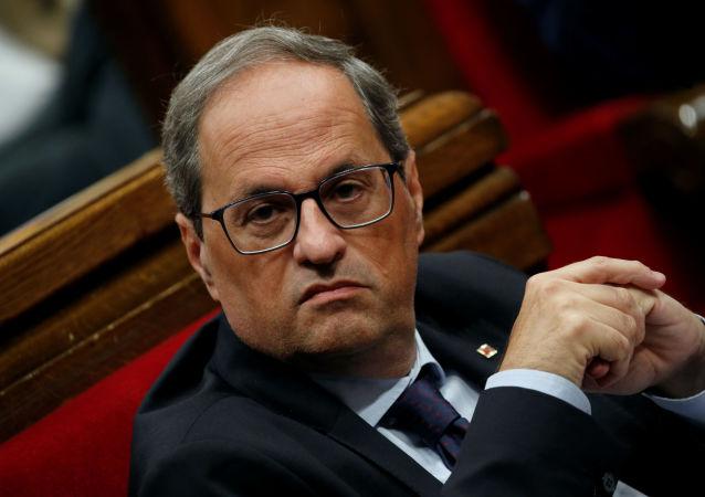 Quim Torra, el presidente del Gobierno catalán