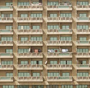 Los balcones de un edifício