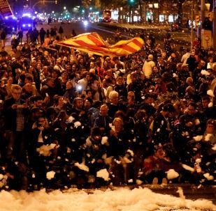 Protestas en Cataluña (archivo)