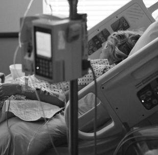 Una cama del hospital, referencial