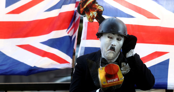 Un manifestante contra el Brexit en Londres