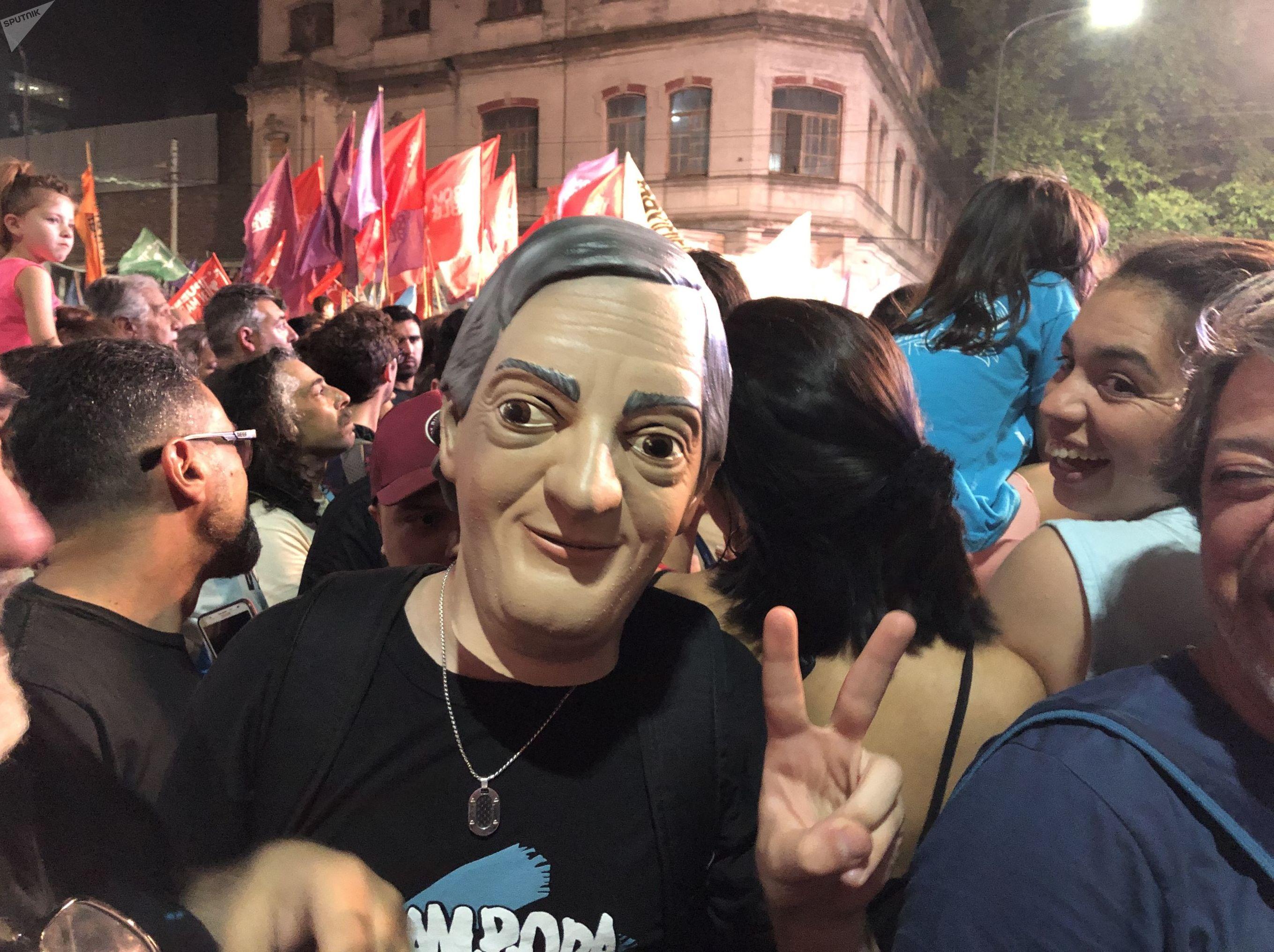 Máscara de Néstor Kirchner