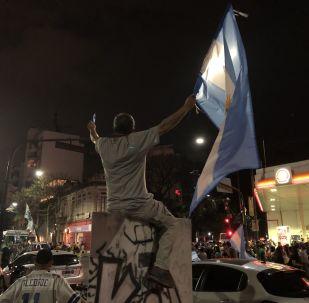 Los argentinos celebran la victoria electoral de Alberto Fernández
