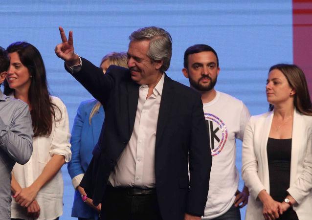 Alberto Fernández, el ganador de los comicios presidenciales en Argentina