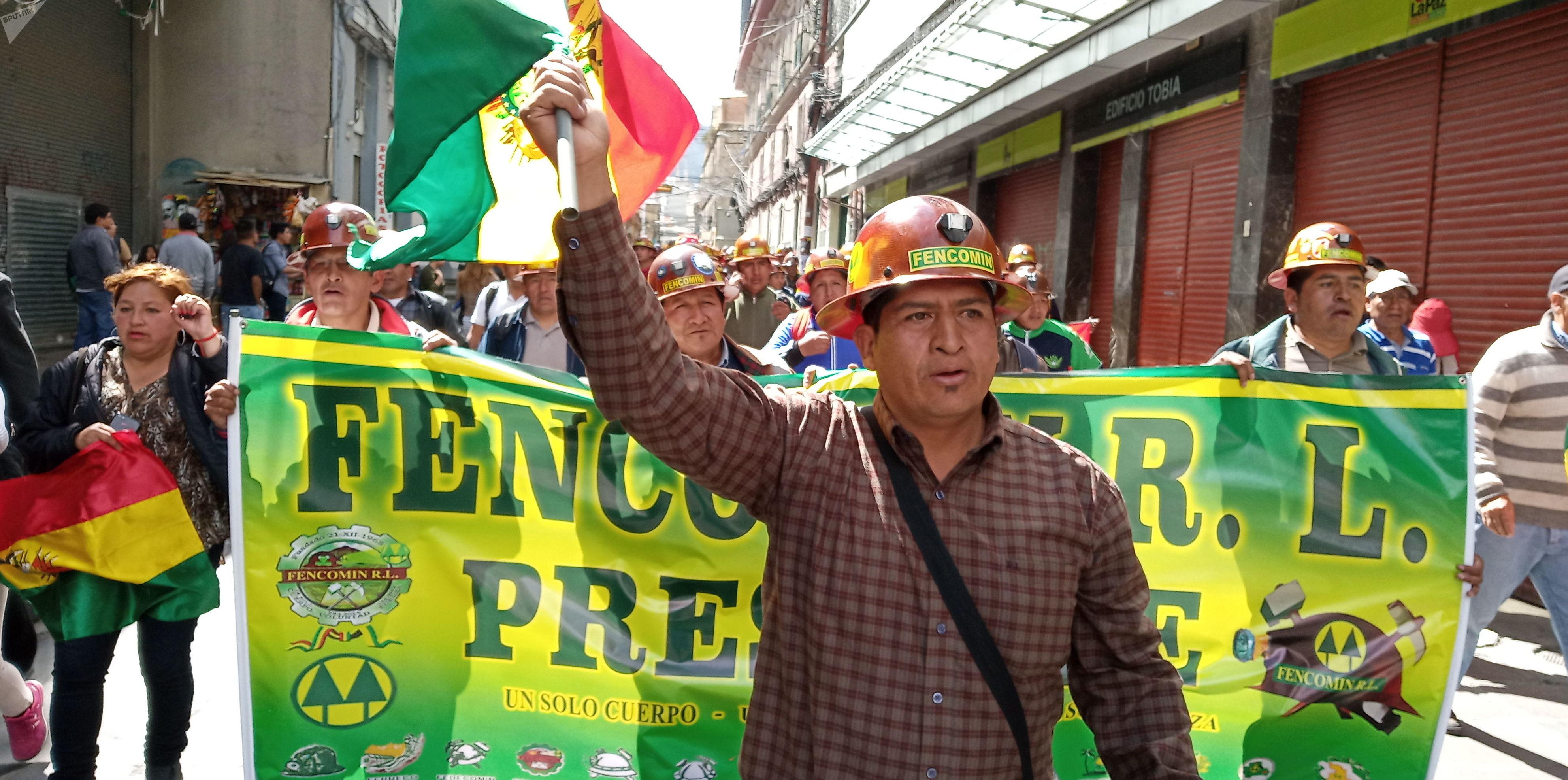 Feliciano Mamani, presidente de la Federación Nacional de Cooperativas de Bolivia