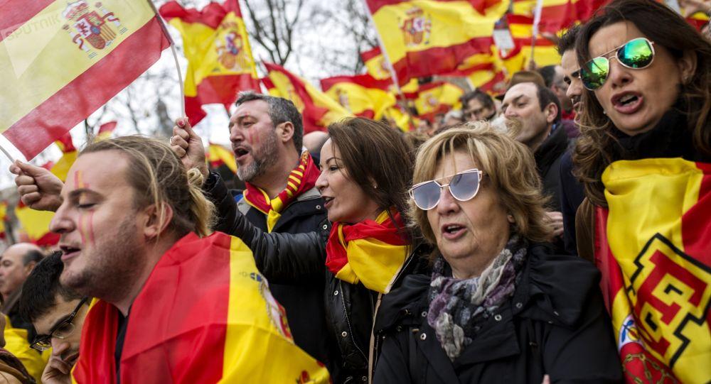 El mitin en España (archivo)