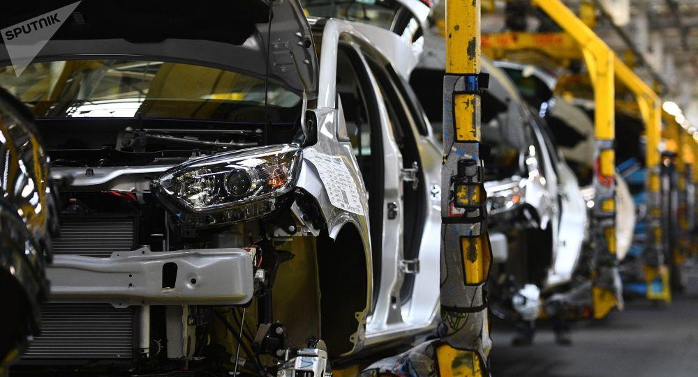 Una fábrica de coches