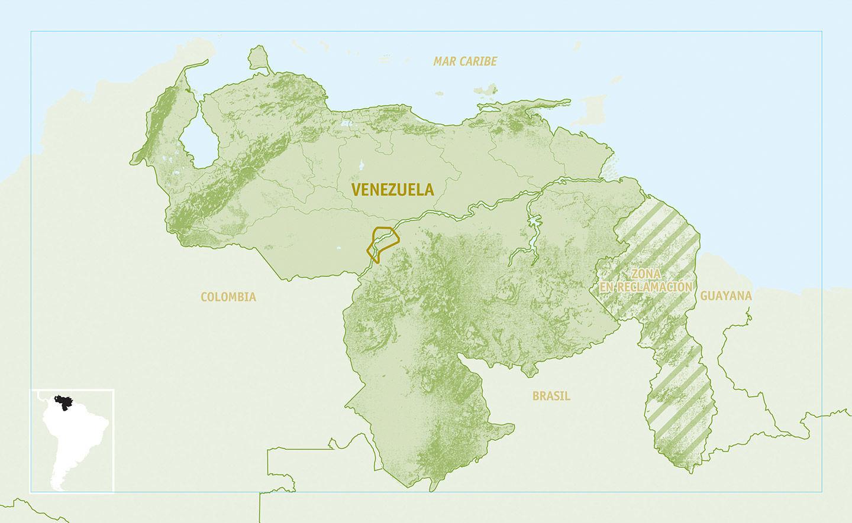 Mapa de ubicación geográfica de los Mapoyo