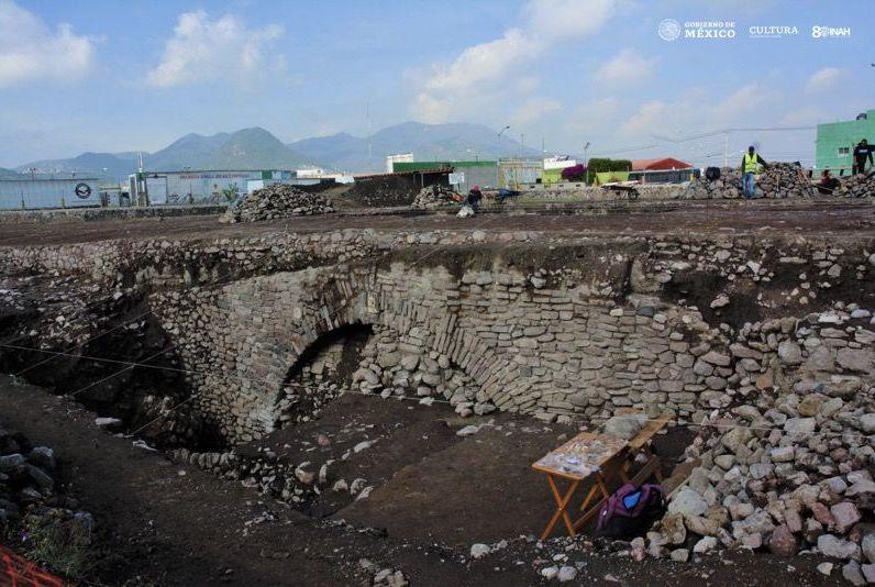 Zona en la que se descubrió el túnel con glifos prehispánicos