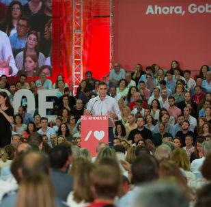 Pedro Sánchez, presidente español en funciones y candidato del PSOE en las elecciones generales