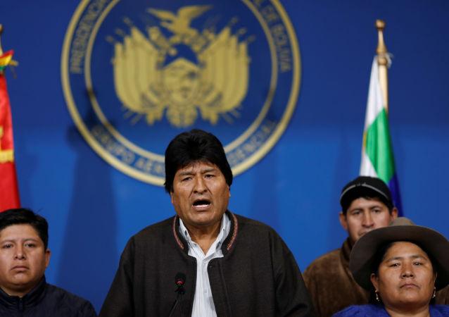 Evo Morales, renunciante mandatario boliviano