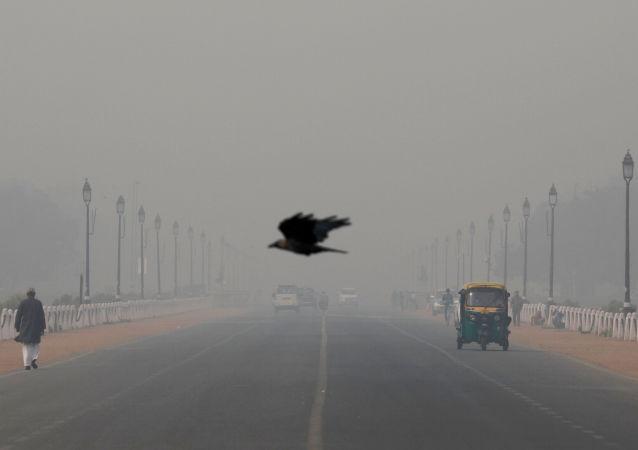 Polución de aire en Nueva Delhi