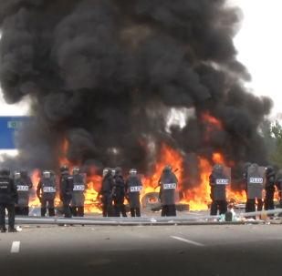 Violentas protestas bloquean el tráfico entre España y Francia