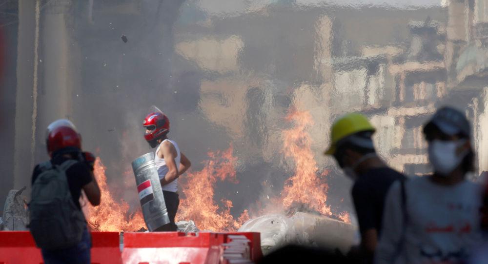 Protestas en Irak (archivo)