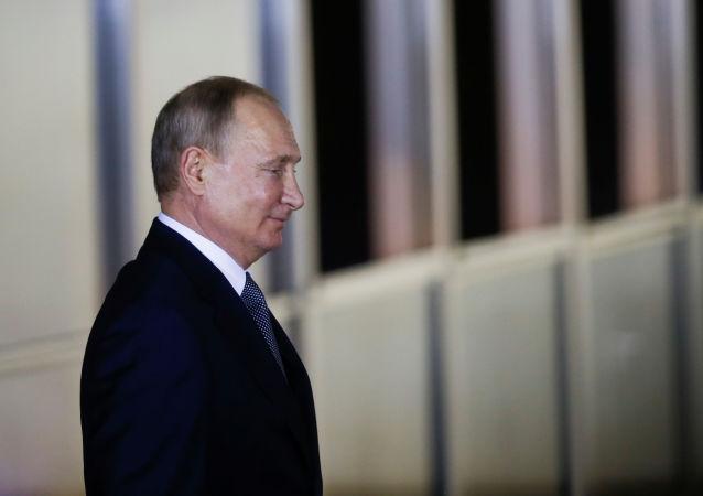 Vladímir Putin, Presidente de Rusia, en la cumbre de los BRICS en Brasilia
