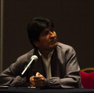 Evo Morales ofrece una rueda de prensa en la Ciudad de México, el 20 de noviembre de 2019