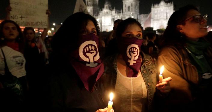 Protestas contra femicidios y la violencia de género en México