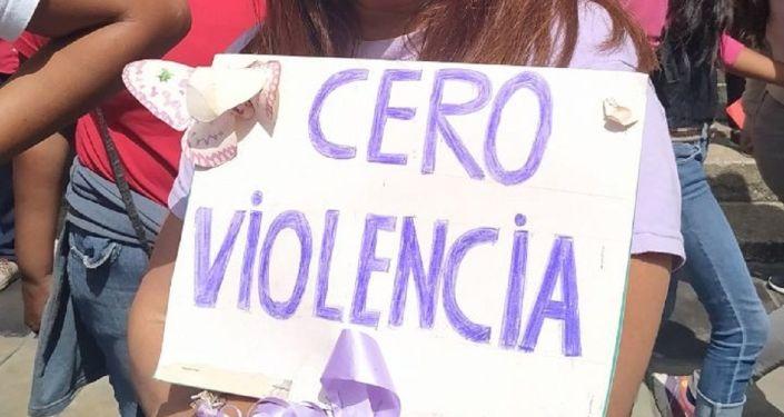 Cero violencia - marcha contra la violencia de género en Caracas