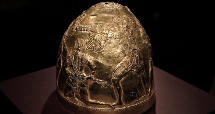 Uno de los objetos de la muestra Crimea: oro y secretos del Mar Negro en la galería Allard Pierson