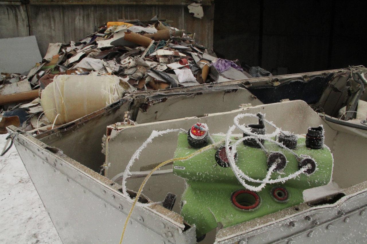 Обломки потерпевшего крушение малайзийского Boeing 777