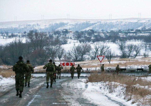 Milicianos prorrusos en el este de Ucrania