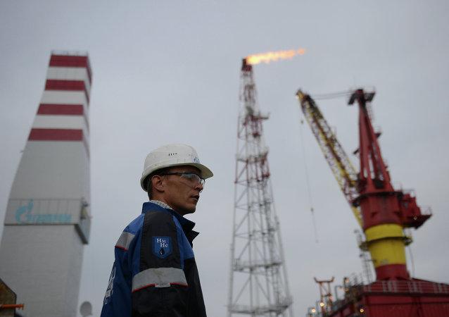 Una refinería de petróleo en Rusia (archivo)