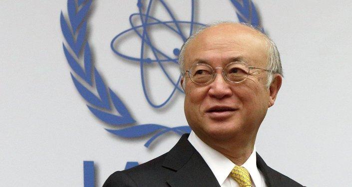 Yukiya Amano, jefe de Organismo Internacional de Energía Atómica (OIEA)