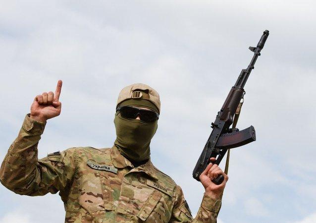Efectivo del batallón voluntario Aidar (Archivo)