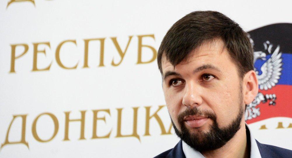 Denís Pushilin, representante de la autoproclamada RPD en las negociaciones de Minsk