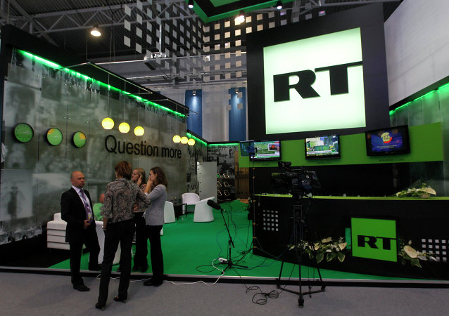 Стенд канала Russia Today