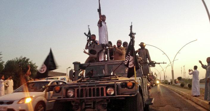 Combatientes del grupo yihadista Estado Islámico (EI)