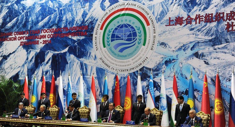 Emblema del la Organización de Cooperación de Sanghái