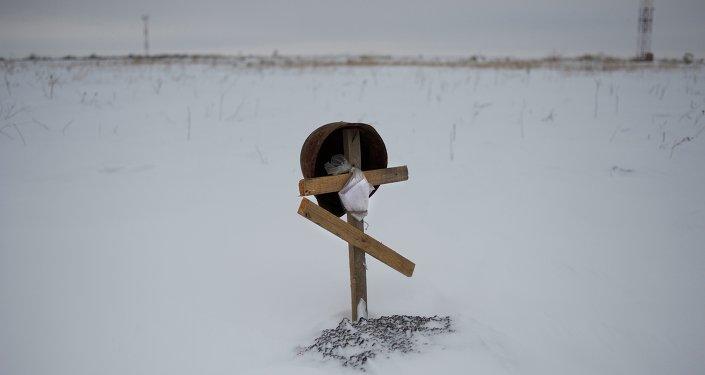 Tumba del soldado desconocido en el este de Ucrania